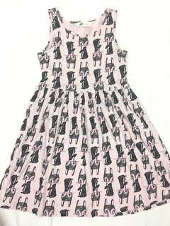 H&M rabbit cotton dress size 8-10