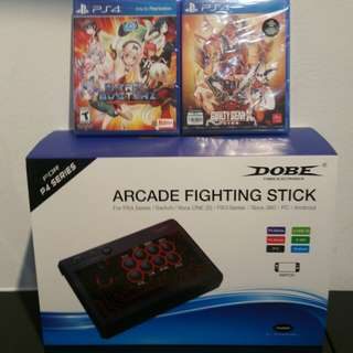 Dobe Arcade Fighting Stick with 1 game (compatible with PS4/PS3/Xbox 360/Xbox one/PC/Android/Switch)