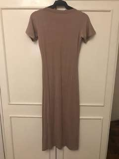 Shop Copper Nude Dress (With Slit)