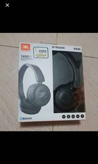 JBL wireless headphones T450BT