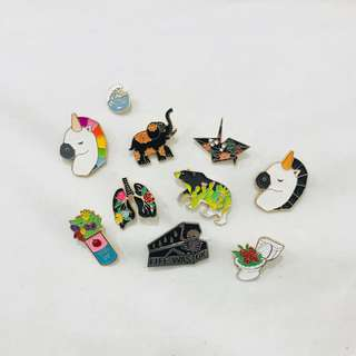 Enamel pins - floral and fauna