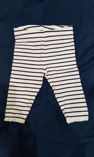 Mothercare Striped Leggings with Lace Trim 3-6mths