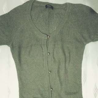 Long blouse (Knitted/Army Green)