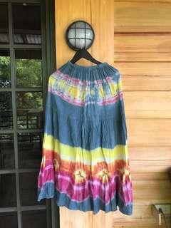 Bohemian tie-dye skirt