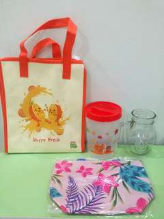 Marigold mug, bag and container