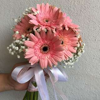 Gerberas hand tied bouquet