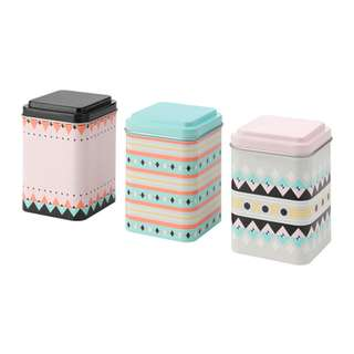 [IKEA] SOMMAR 2018 Tin with lid 3pieces