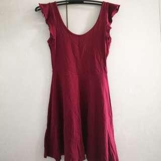 Terranova red skater dress