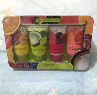 SOLACE fruit selection Hand & Nail Cream sampler gift set