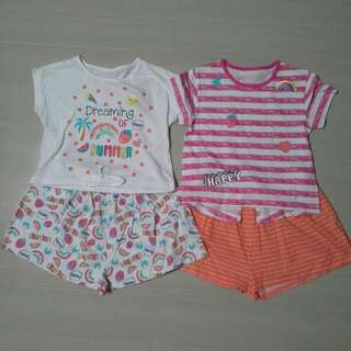 Brand NEW Girls Mix & Match Shorties ( Pack Of 2 Sets )
