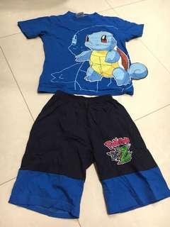 Pokémon squirtle size L tee + shorts set