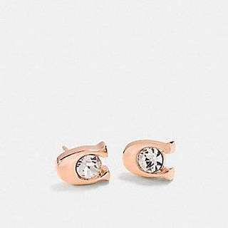 Coach Signature Stone Stud Earrings