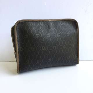 auth christian dior vintage clutch bag