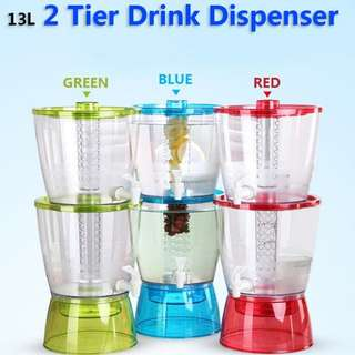 🌶️U68 : 13L 2 Tier Drink dispenser BPA FREE (2.5kg)🌶️