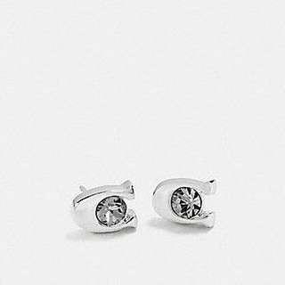 Coach Signature Stone Stud Earrings