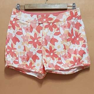 Bass Floral Print Shorts (Red & Orange)