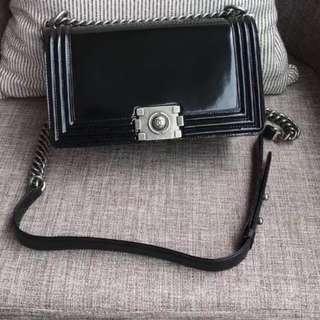 Chanel Patent Leboy Flap 25cm