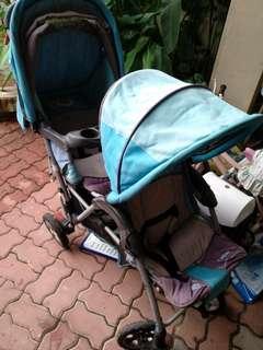 Twin Stroller Pram Baby Dua Tempat Duduk