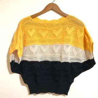 Knitted Batwing Top (Crochet type)