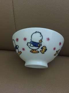 Sanrio Ahiru No Pekkle 鴨仔 1997 年 陶瓷飯碗 (Made in Japan) 全新未用過 (直徑 4.5 吋)