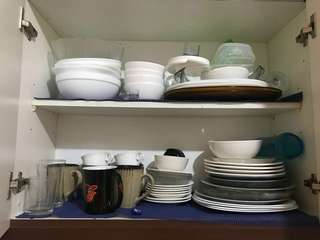 Plates saucers and bowls