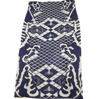 Blue stretch skirt