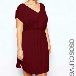 Plus size garter dress