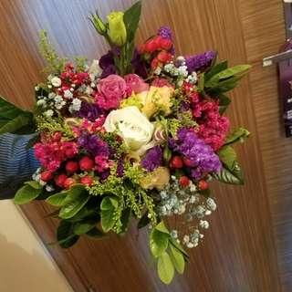 結婚花球 手花 真花 鮮花💏💜 可自訂來款款式