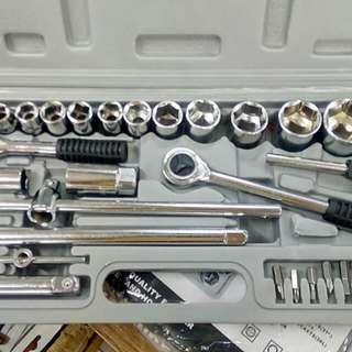 2-in-1 52pcs Combination Wrench & Screw Bit Set