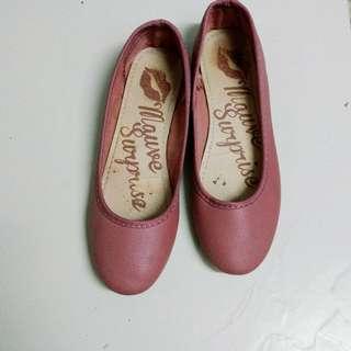 Mauve Flat Shoes