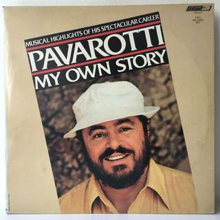 Luciano Pavarotti ‎– Pavarotti My Own Story - Musical Highlights Of His Spectacular Career (1981 USA Original 2LP in Gatefold Sleeve - Vinyl is Mint