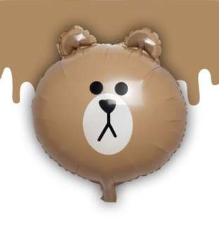 Line Brown Bear Balloon