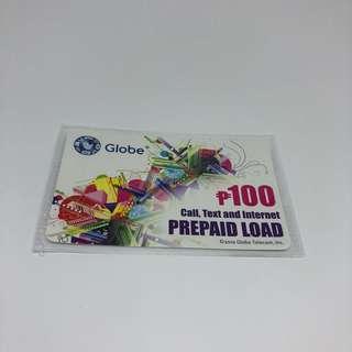 Globe Prepaid Load - Php 100.00