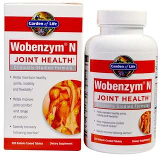 Wobenzym, N, Joint Health, 200 Enteric-Coated Tablets