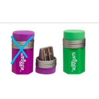 Smiggle sharpener with eraser rm10 NEW