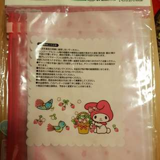 Melody ribbon zipper bag (m size)