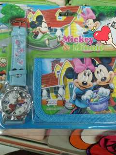 Mickey Mouse watch & wallet