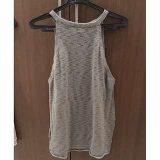 Olive green Knitted Halter Top