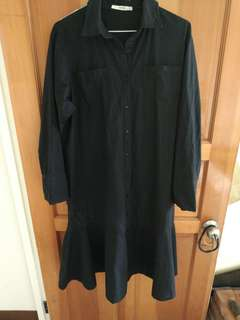 黑色魚尾長裙
