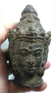 舊三面佛銅頭像