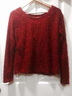 Red Fuzzy Sweater