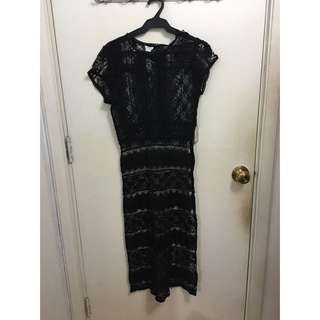 Black lace dress cover up
