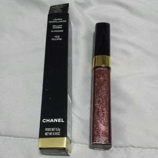 CHANEL INTENSE RADIANCE LIPGLOSS ♡ BRILLANT EXTREME ♡ GLOSSIMER♡ 102 ECLIPSE ♡ FREE POSTAGE ♡ RETAIL $148♡