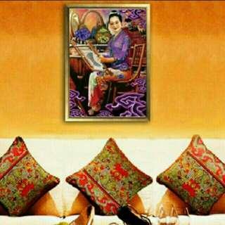 A3 size  Purple Kebaya  Series  Nyonya Ladies Peranakan