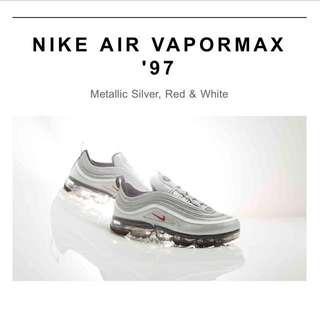 NIKE AIR VAPORMAX 97 SIZE: UK8