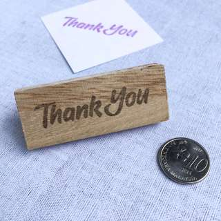 Hand-carved rubber stamp - Thank You