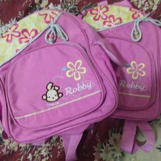 2 Robby Rabbit backpack for kids