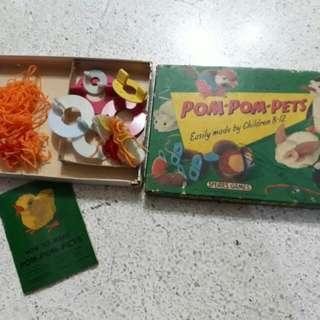 vintage Spear's Games Pom-Pom-Pets