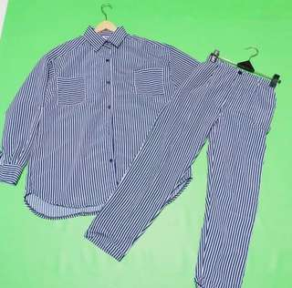 1 set stripe shirt