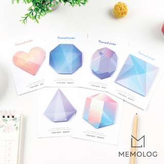 Colourful Diamond Gradient Sticky Notes Memo Pad
